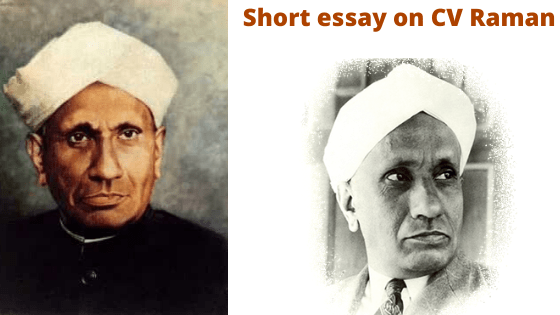 Short essay on CV Raman