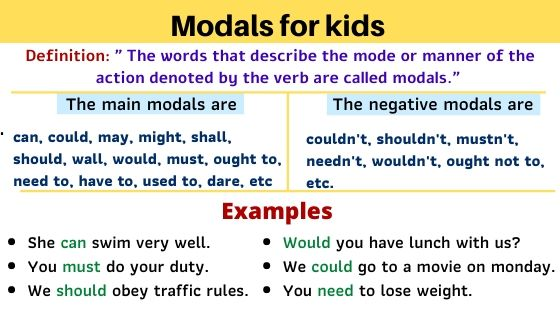 modals for kids