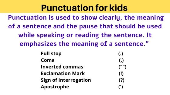 punctuation for kids