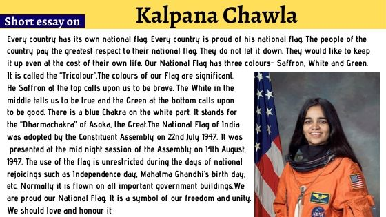 Short Essay on Kalpana Chawla