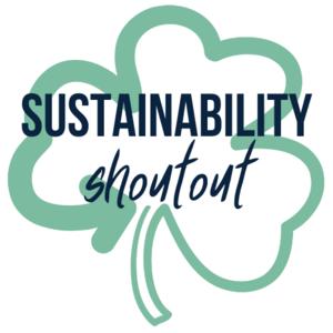sustainability shoutout