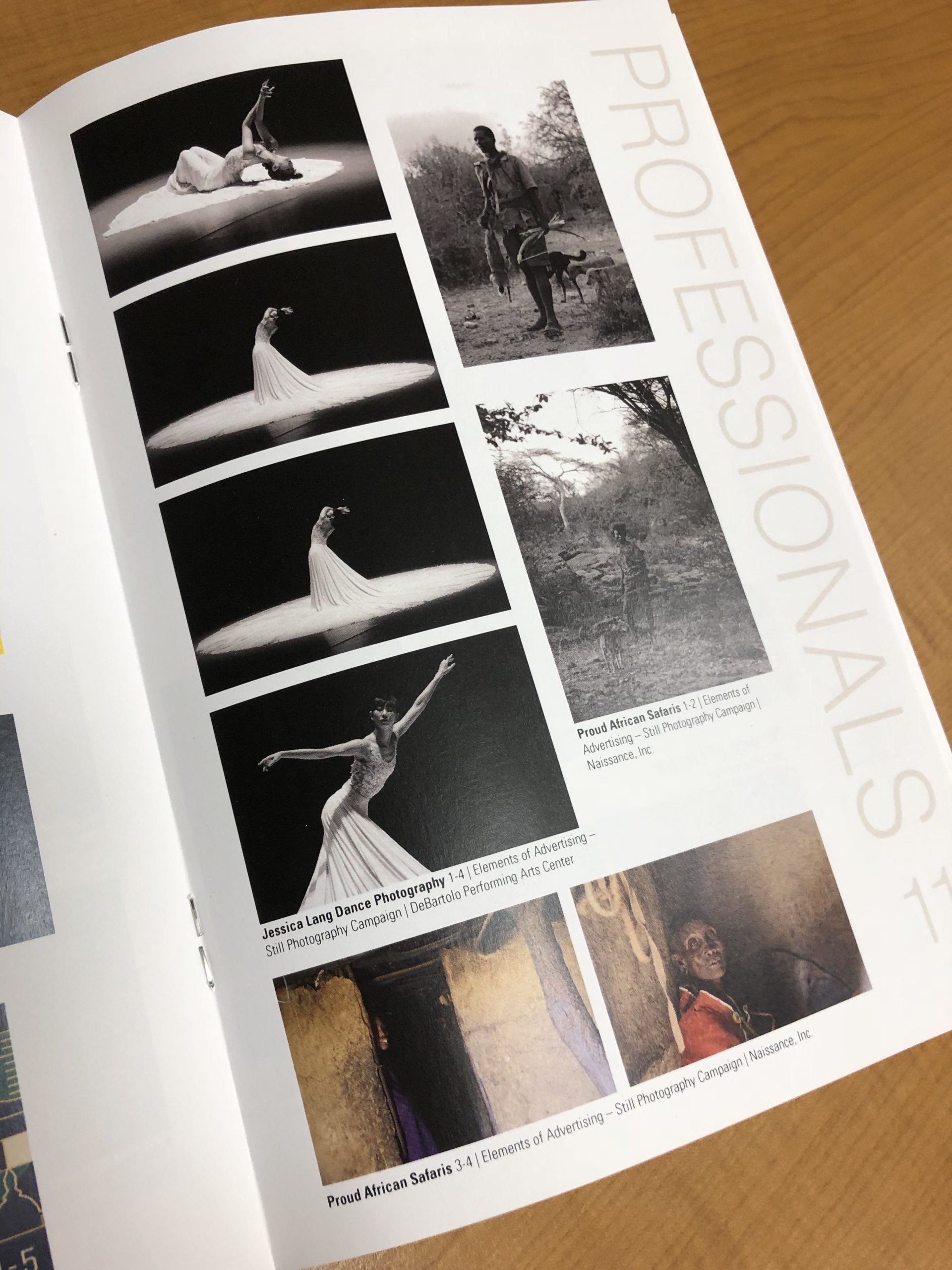 Page spread of images taken at the center