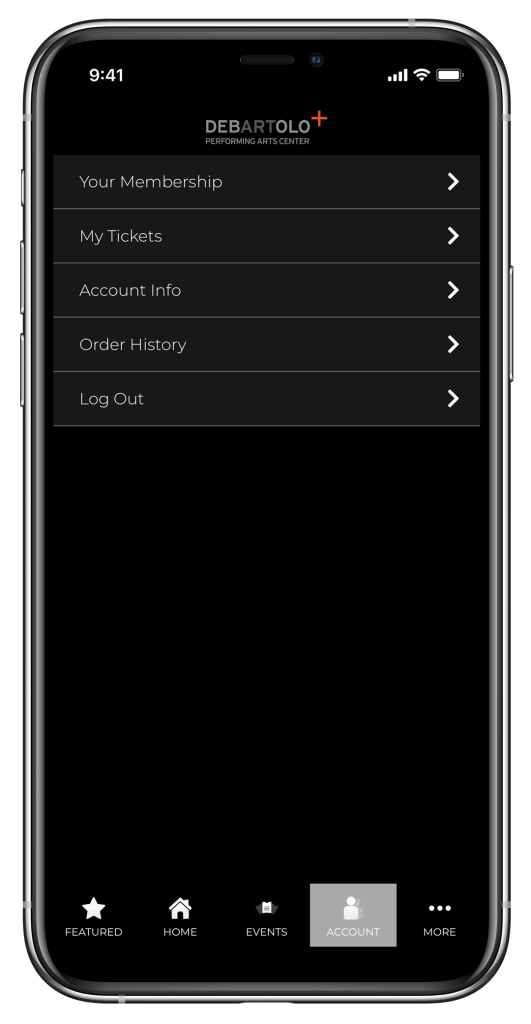 Account Info App Image