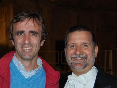 Josu Camacho and Scott Ferguson, conductor of Illinois Wesleyan University Collegiate Choir- Spain Concert Tour 2008