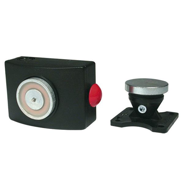 Ventouse Électromagnétique pour porte coupe feu 24V en ABS blanc OU noir force 50 kg IP40