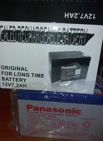 Batterie PANASONIC 12V7.2Ah pour utilisation d'alarme ou onduleur