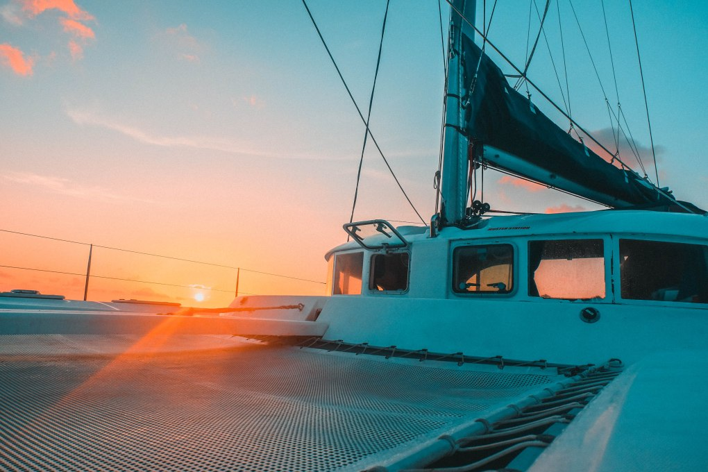 sunset catamaran