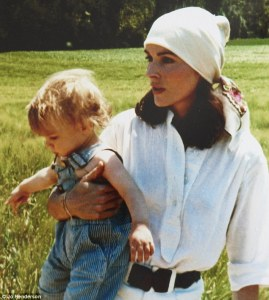 Annick Goutal and daughter Camille as a child.  Daily Mail UK.