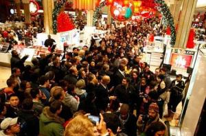 shopping craziness holiday madness