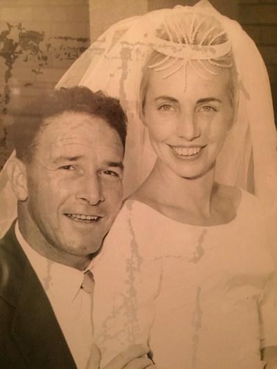 Glenda Bruce wedding day Mum Dad