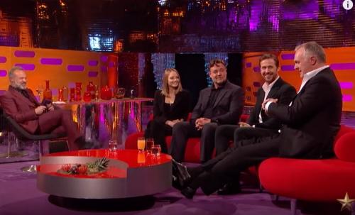 Graham Norton, Jodie Foster, Russell Crowe, Ryan Gosling, Greg Davies YouTube