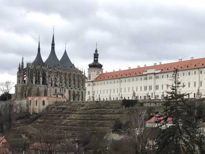 Prague March 11 2017 St Barbara's Jesuit art Gallery