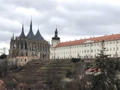 Prague March 11 2017 St Barbara's Jesuit art Gallery