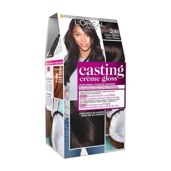 L'OREAL PARIS Casting Creme Gloss Baño de Color 200 Negro Ébano