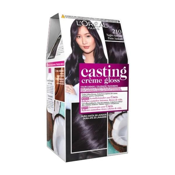 L'OREAL PARIS Casting Creme Gloss Baño de Color 210 Negro Azulado
