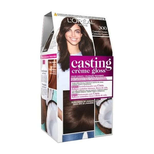 L'OREAL PARIS Casting Creme Gloss Baño de Color 300 Castaño Oscuro