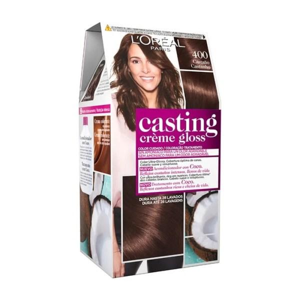 L'OREAL PARIS Casting Creme Gloss Baño de Color 400 Castaño