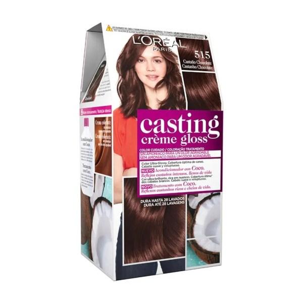 L'OREAL PARIS Casting Creme Gloss Baño de Color 515 Castaño Chocolate