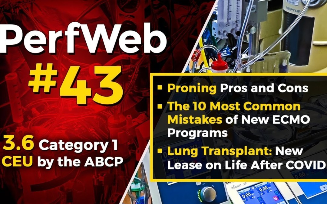 Proning pros and cons, The 10 mistakes of new ECMO programs, Lung Transplant: after COVID-19