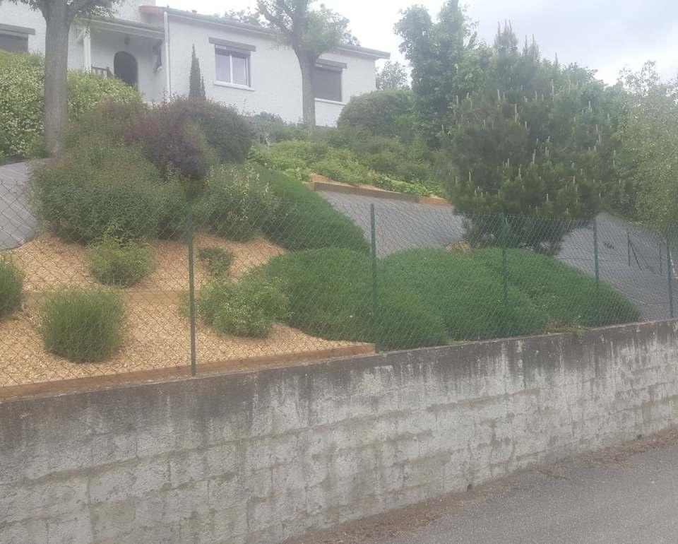 Rénovation de talus (toile hors sol et paillage plaquette bois)