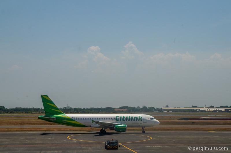 Pesawat Citilink di Bandara Juanda