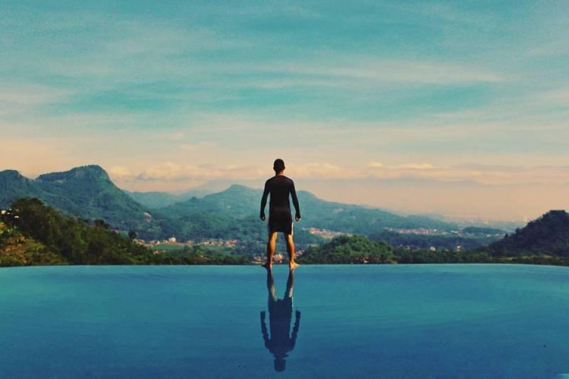 Pemandangan dari Taman Love ini begitu indah via @soreangkota
