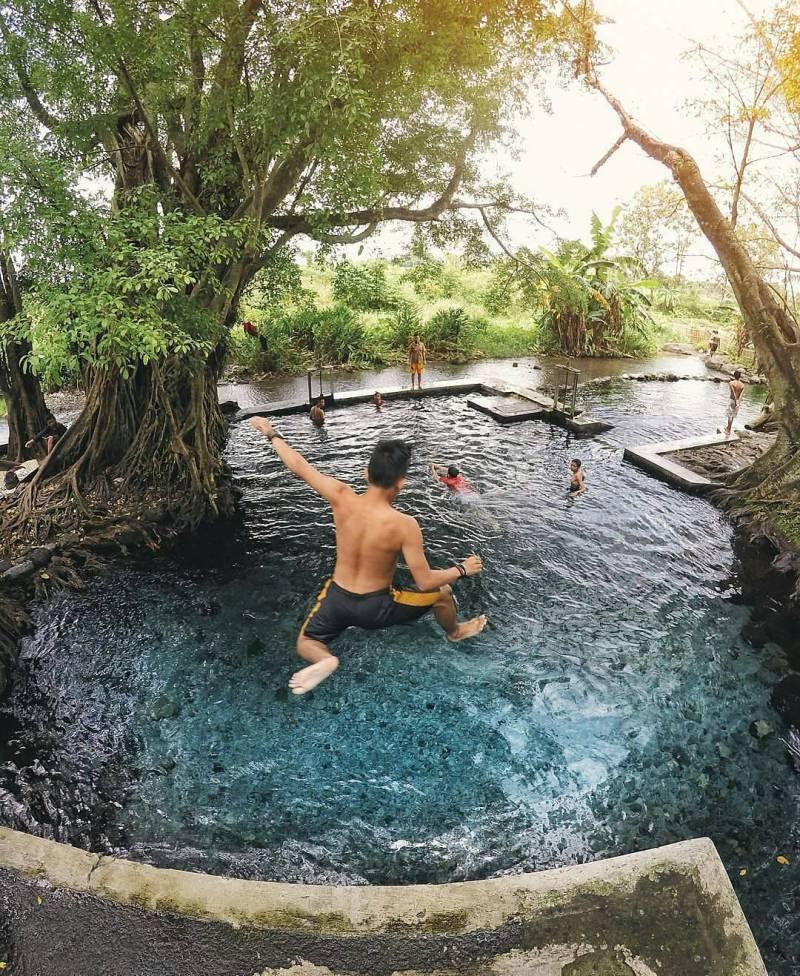 Umbul manten adalah salah satu tempat wisata di Klaten yang terkenal @kesininih.id