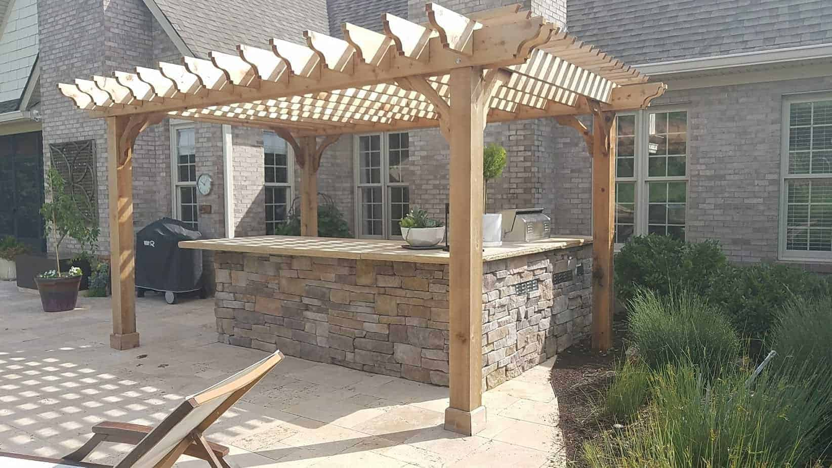 12x16 Pergola Kit Buy The Big Kahuna 12x16 Wood Pergola