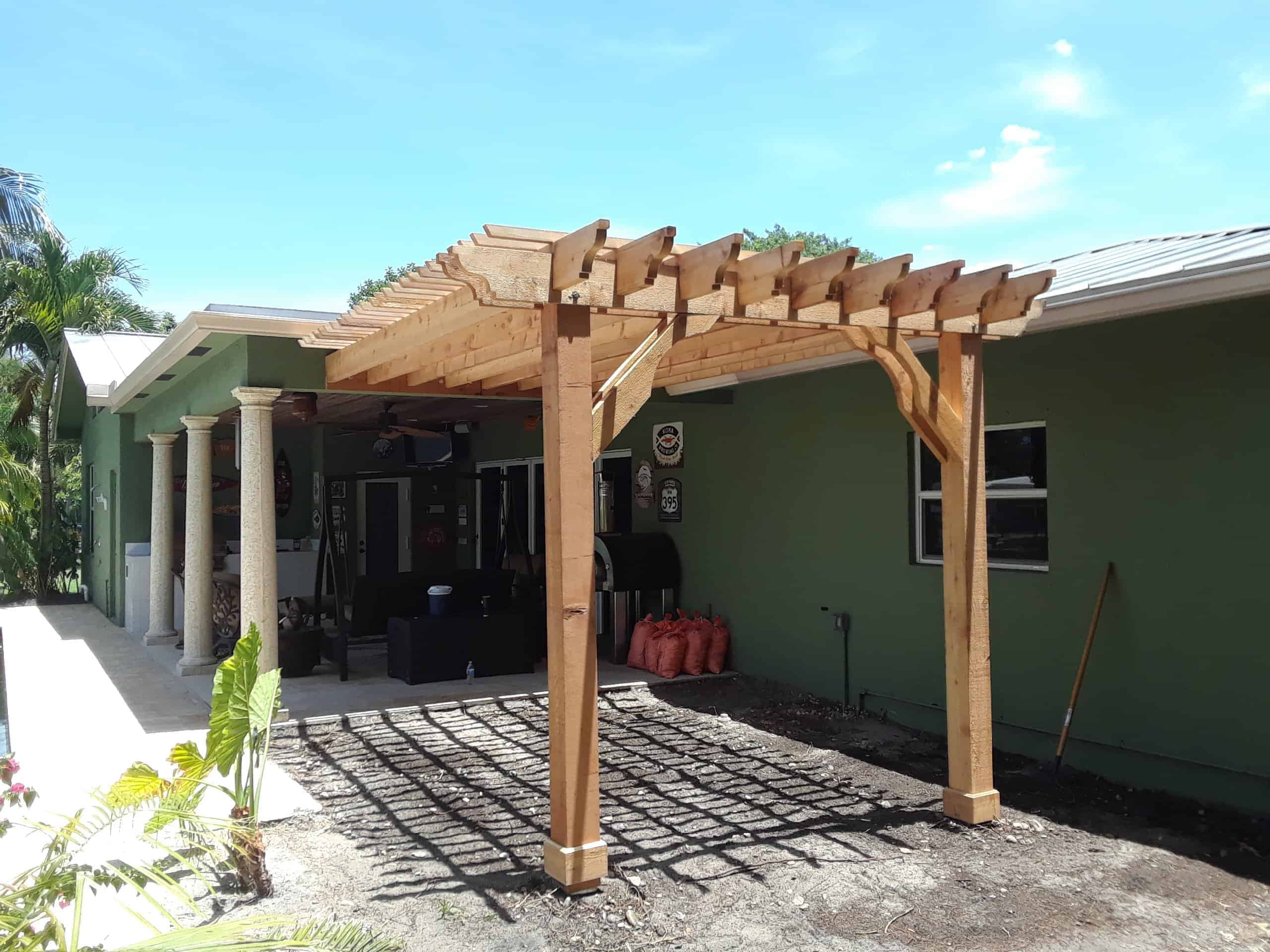 15x17 Pergola Kit Order A Big Kahuna 15x17 Wood Pergola