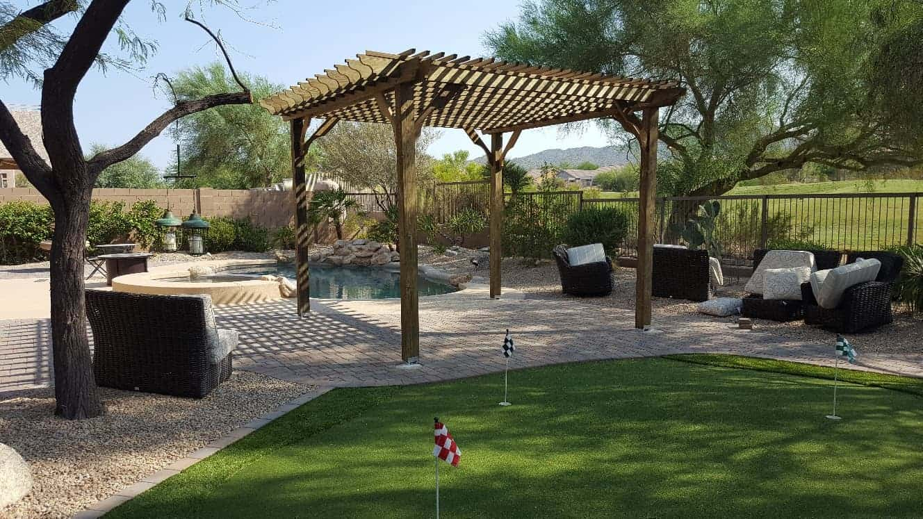 15x15 Pergola Kit Shop Our Big Kahuna 15x15 Wood Pergola