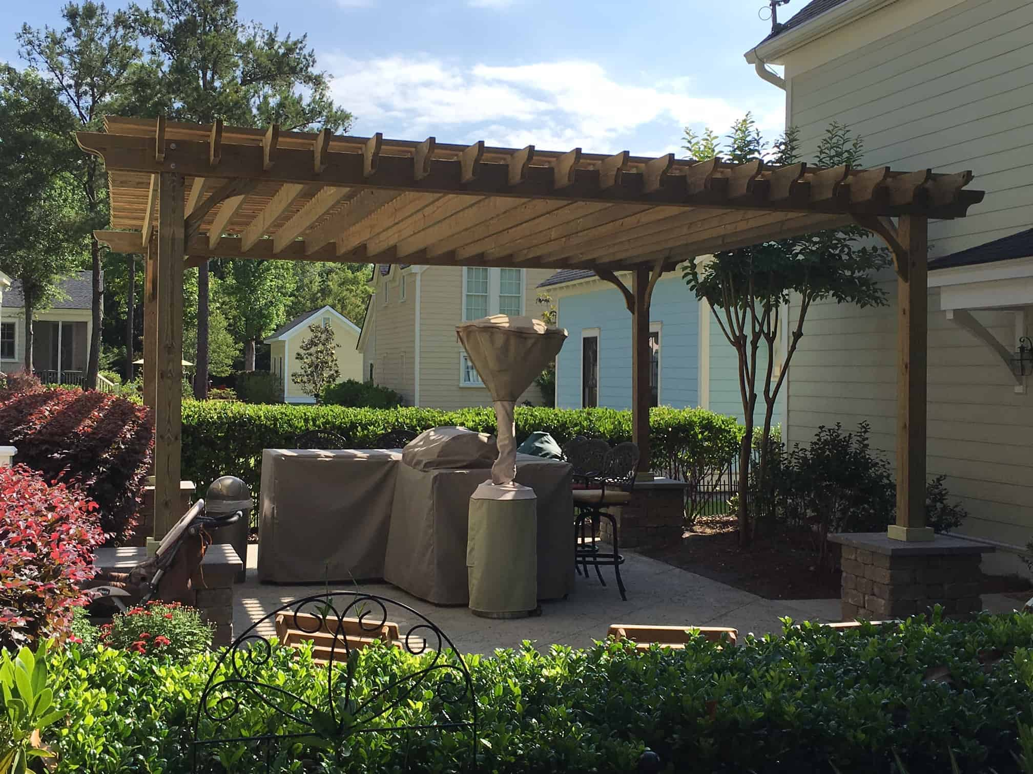 20x20 Pergola Kit Shop The Big Kahuna 20x20 Wood Pergola