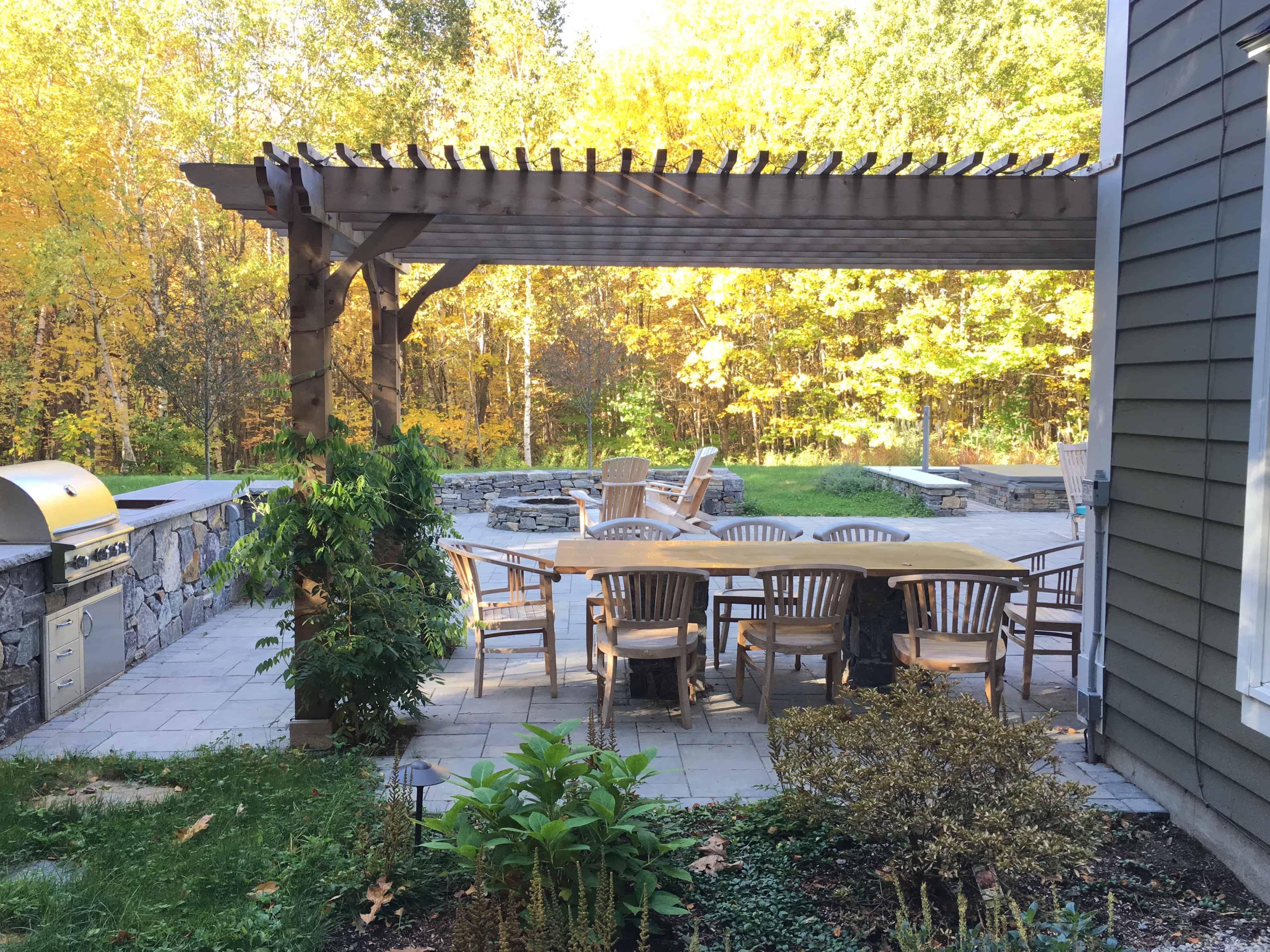 outdoor patio dining pergola kits