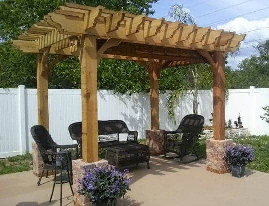 13x13 Pergola Kits Big Kahuna 13x13 Wood Pergola Kit