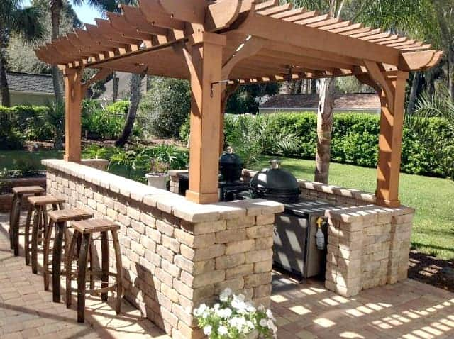 outdoor kitchen pergola ideas