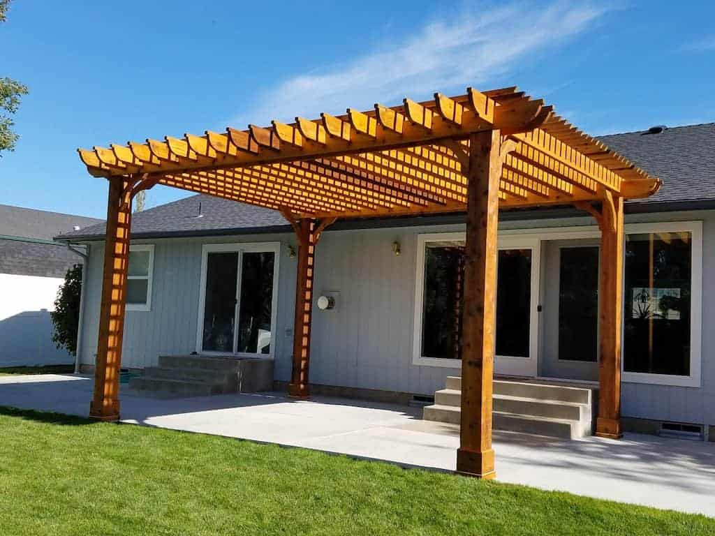 Solid Wood Patios Cover Ideas | Discover Ideas for a Wood ... on Home Depot Patio Ideas id=19994