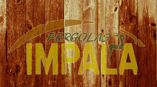 Pergolas Impala logo-on-wood