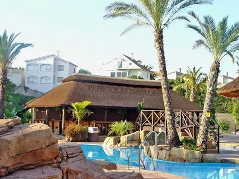 Pergolas Impala Thatched beach bar