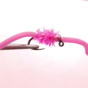 Pinkki Chenille Squirmy Worm Väkäsetön Jigikoukku