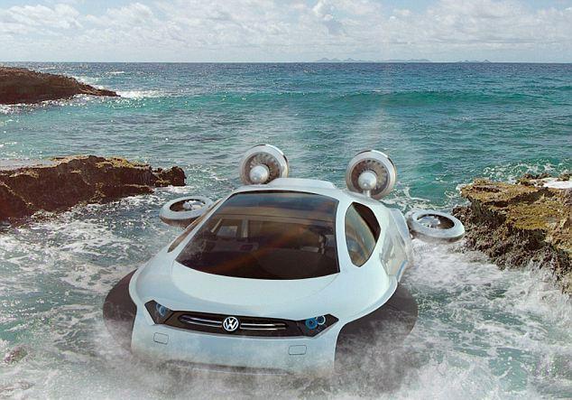 Perierga.gr - Το όχημα που κινείται στην άμμο και στο νερό