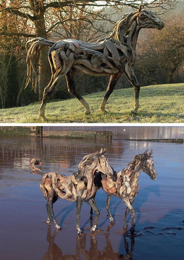 perierga.gr - Τα νεκρά ξύλα ζωντανεύουν υπερήφανα άλογα!