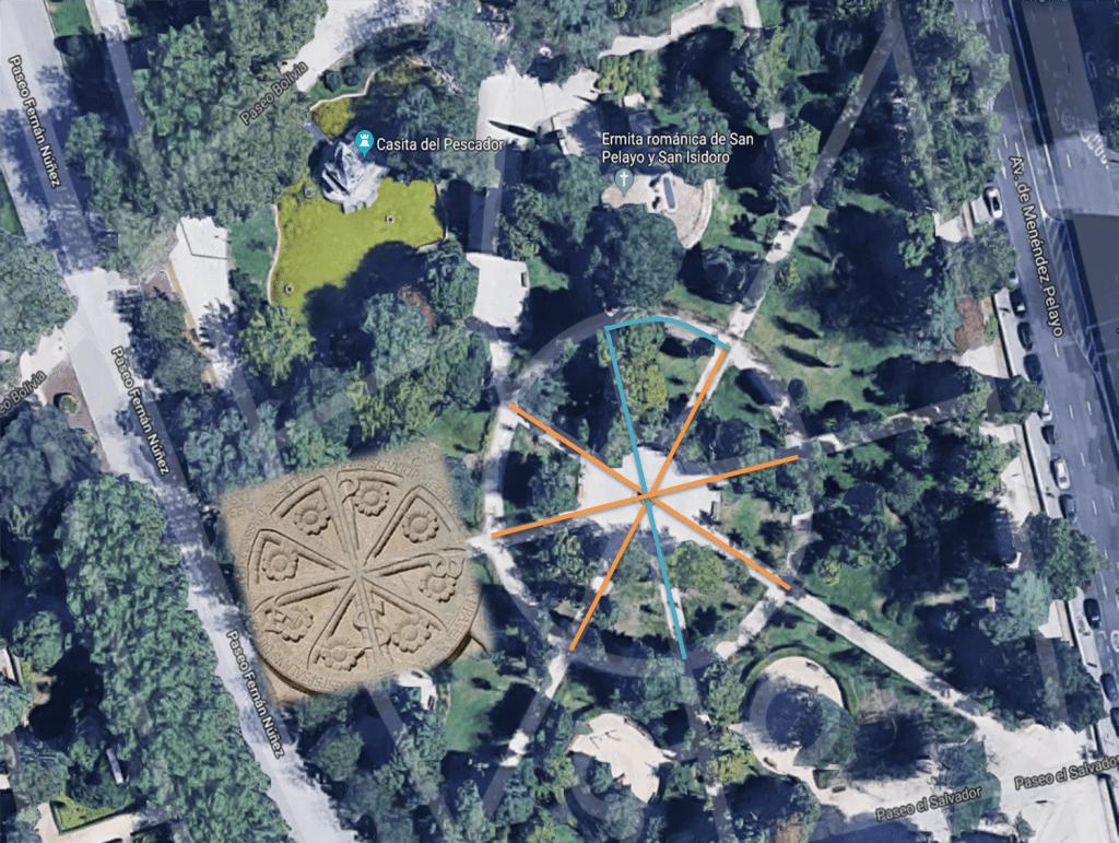 simbolos-secretos-crismon-espiritualidad-javier-sierra-el-fuego-invisible-fuente-de-los-poetas-reservado-madrid-jardines-buen-retiro-parque-historia