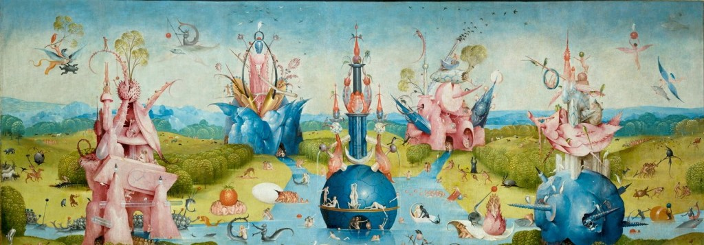 garden of earthly delights-hieronymus bosch - jheronimus bosch - garden of eden - paradise- bible