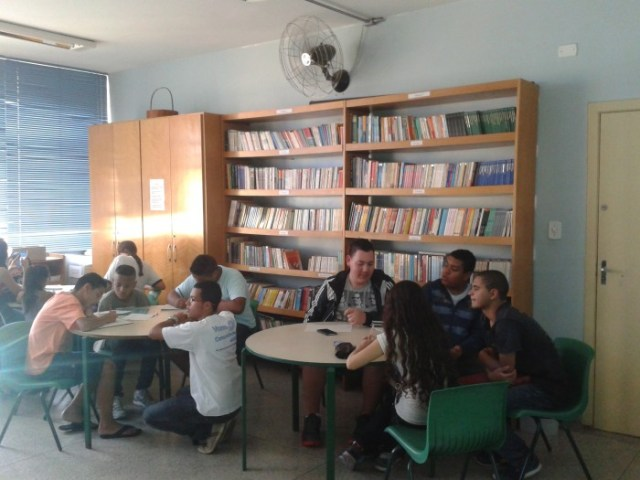 Oficina realizada em 2015, em parceria entre o Vozes e o Periferia em Movimento.