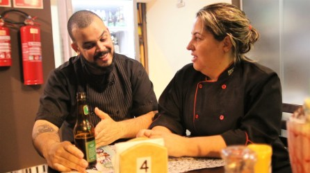 Regiane e Ricardo, o casal Pantcho (Foto: Guilherme Petro / Énóis / Prato Firmeza))