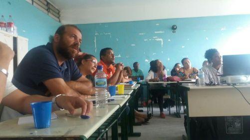 Oficina Repórter da Quebrada na E.E. Adrião Bernardes.