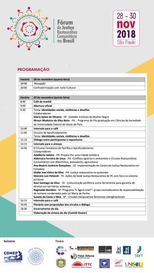23112018_ PROGRAMACAO-FORUM-DE-JUSTICA-RESTAURATIVA-COMUNITARIA-NO-BRASIL