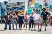 Integrantes de coletivos que fizeram a curadoria de festival Red Bull Amaphiko no Grajaú (foto: Fabio Piva)