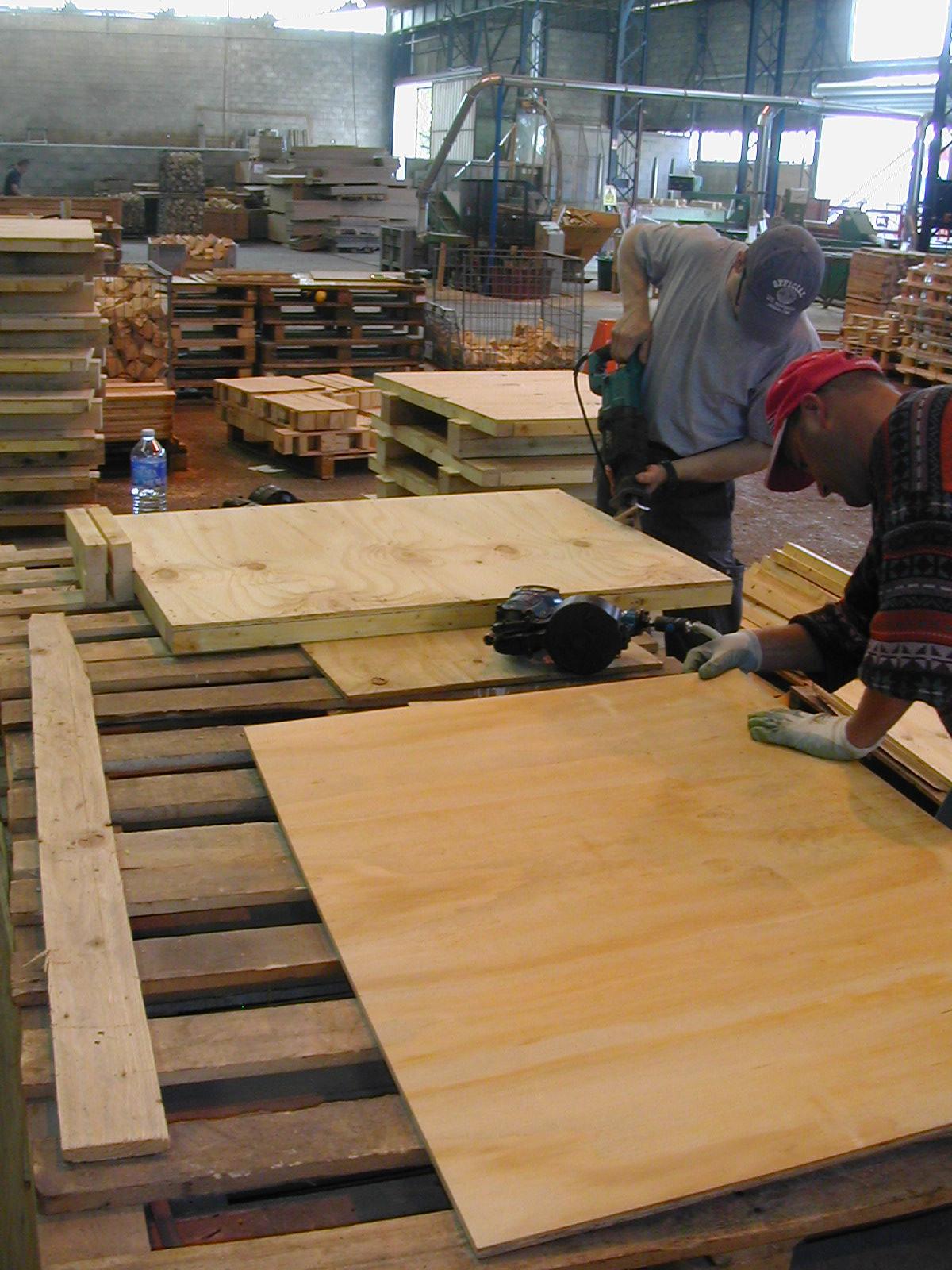 afin d etre coherent avec celle ci l immense majorite des essences de bois utilisees est directement extraite des forets avoisinantes essentiellement de