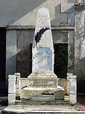 La stèle en mémoire des otages fusillés aux Piles.