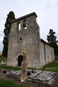 Eglise de Monbos - Le mur-clocher - ©Mcweb